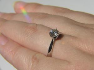 A fehérarany gyűrű tökéletes ajándék
